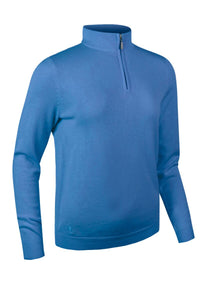 LADIES' ZIP NECK COTTON SWEATER - 'AVA'