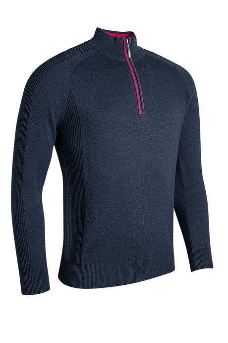 MEN'S COTTON 'TOUCH OF CASHMERE' ZIP NECK SWEATER - 'BOTHWELL'