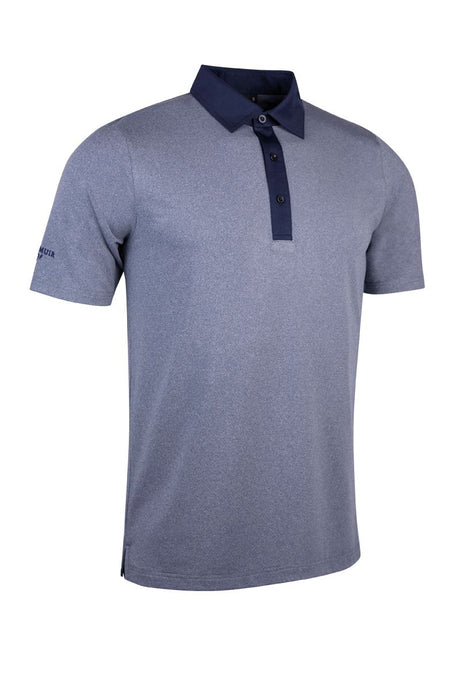 MEN'S PERFORMANCE CONTRAST PLACKET TAILORED COLLAR POLO SHIRT - 'CAMPBELL'