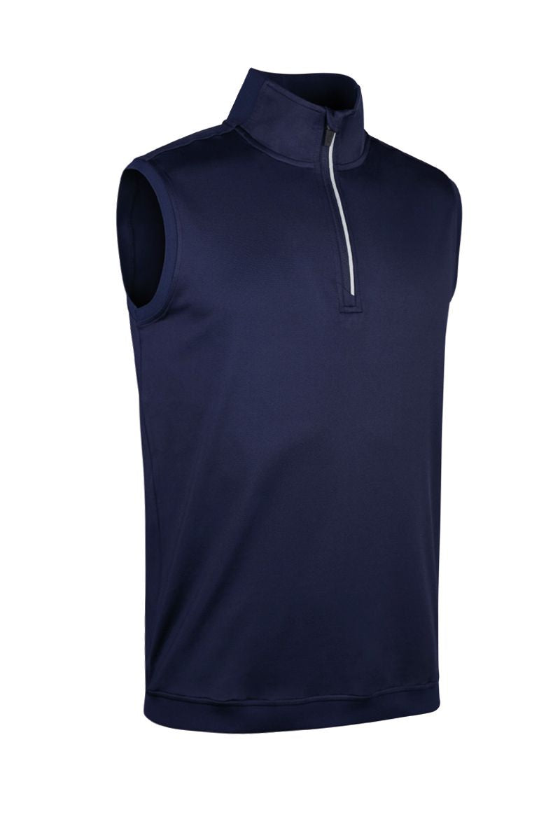 MEN'S PERFORMANCE ZIP NECK CONTRAST RIB SLEEVELESS MIDLAYER - 'CHARLES'