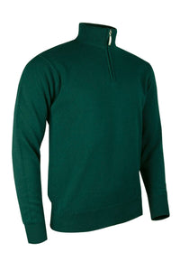 MEN'S LAMBSWOOL ZIP NECK SWEATER - 'COLL'