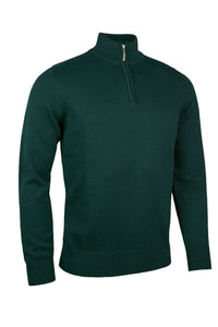 MEN'S COTTON 'TOUCH OF CASHMERE' ZIP NECK SWEATER - 'DALBEATTIE'