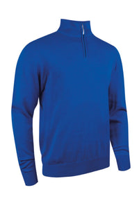 MEN'S ZIP NECK COTTON SWEATER - 'DEVON'