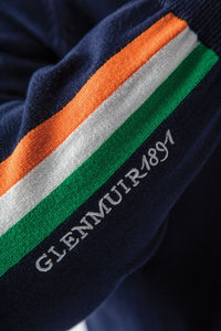 MEN'S ZIP NECK IRISH FLAG STRIPE COTTON SWEATER - 'DUBLIN'