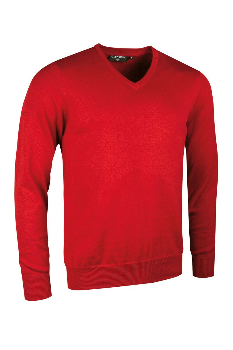 MEN'S V-NECK COTTON SWEATER - 'EDEN'