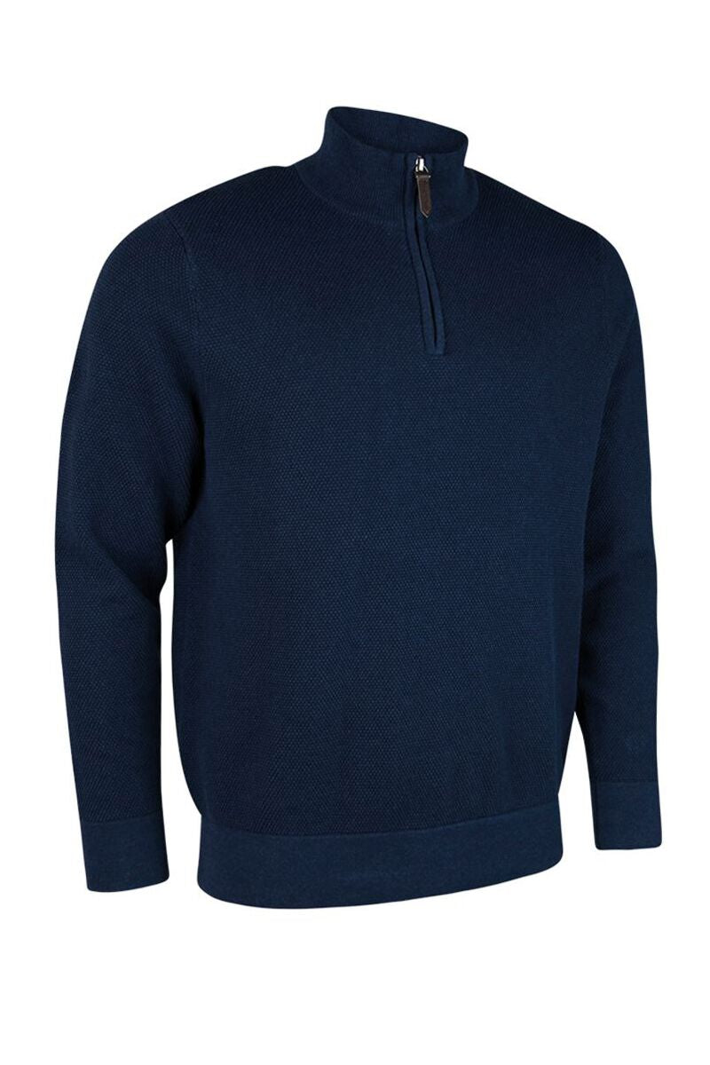 MEN'S ZIP NECK COTTON SWEATER - 'ETON'