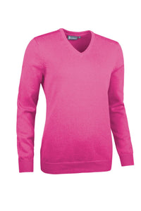 LADIES' V-NECK TOUCH OF CASHMERE SWEATER - 'FLORA'