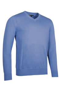 MEN'S COTTON 'TOUCH OF CASHMERE' V-NECK SWEATER - 'GLENCOE'