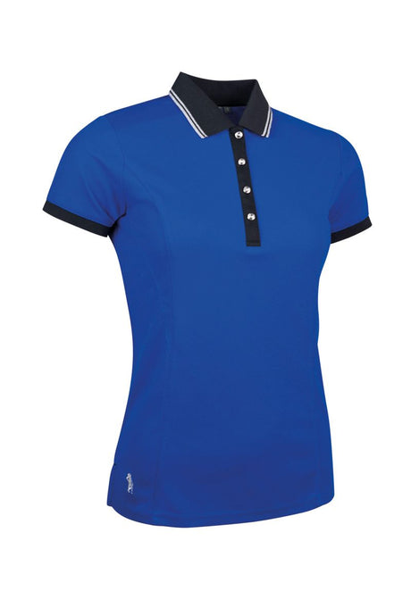 LADIES' PERFORMANCE LUREX TIPPED PIQUÉ POLO SHIRT - 'HARLOW'