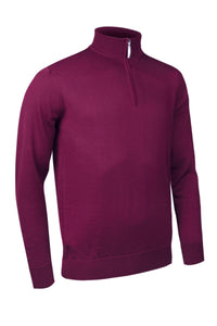 MEN'S ZIP NECK MERINO WOOL SWEATER - 'JASPER'