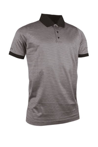 MEN'S NARROW STRIPE MERCERISED COTTON POLO SHIRT - 'LARKIN'