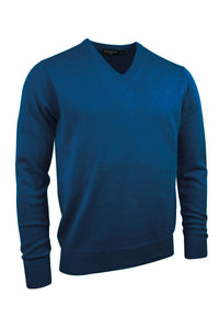 MEN'S LAMBSWOOL V-NECK SWEATER - 'LOMOND'