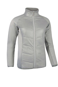 LADIES' ZIP FRONT PINSTRIPE PADDED JACKET - 'MADISON'