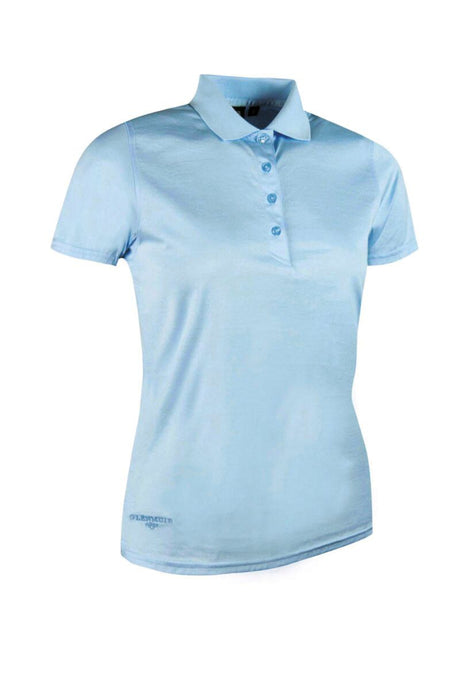 LADIES' PLAIN MERCERISED COTTON POLO SHIRT - 'MICHELLE'
