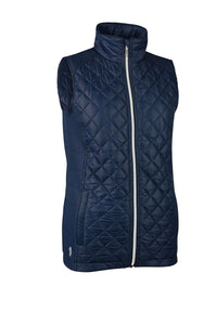 LADIES' ZIP FRONT DIAMOND PADDED GILET - 'SABINE'