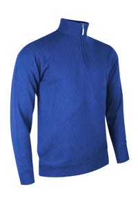 MEN'S ZIP NECK MERINO BLEND LINED SWEATER - 'SAMUEL'