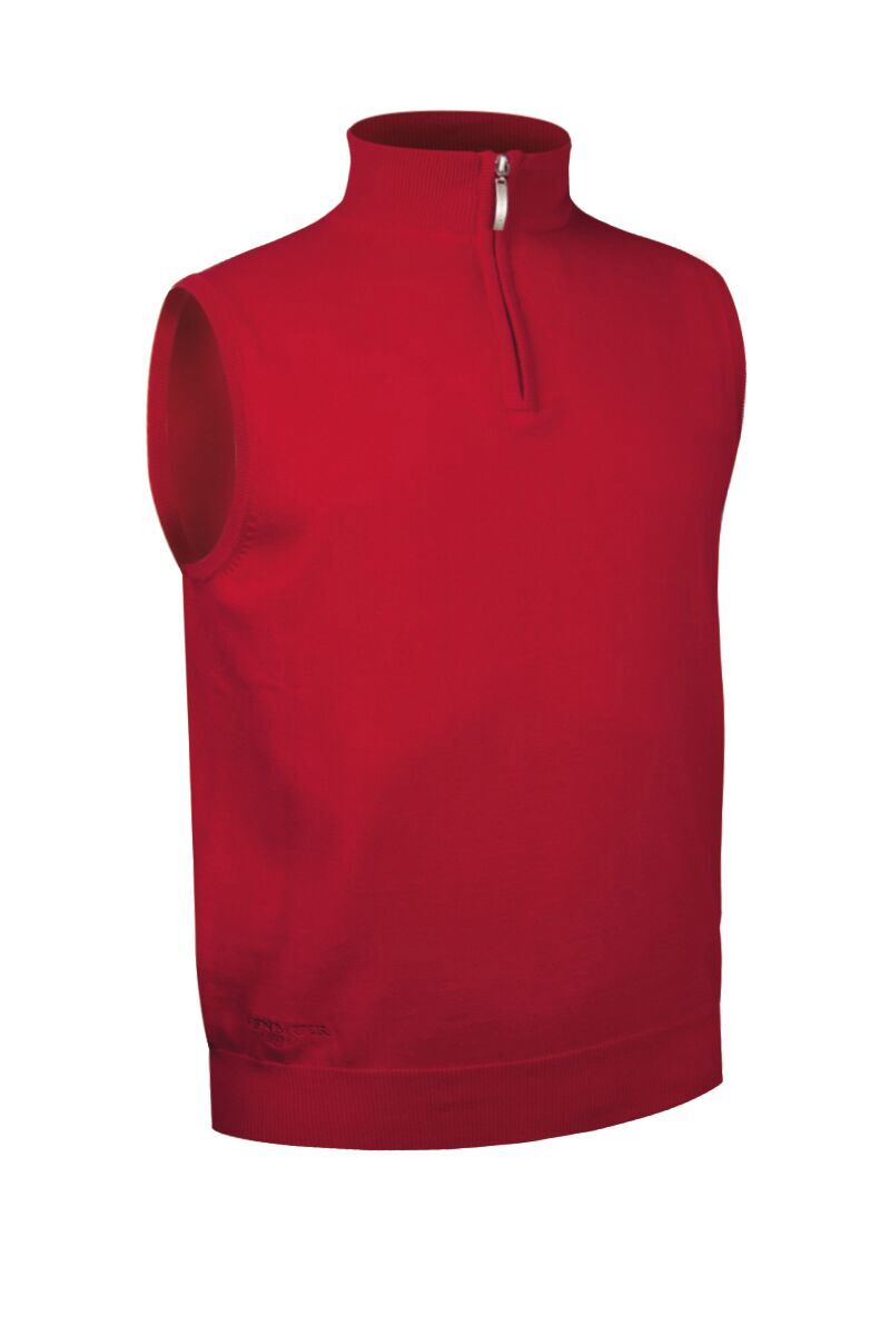 MEN'S  ZIP NECK COTTON SLIPOVER - 'STANLEY'