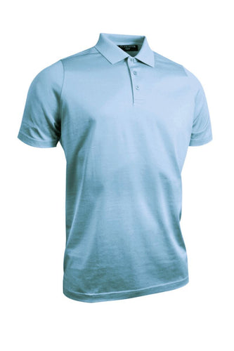 MEN'S PLAIN MERCERISED COTTON POLO SHIRT - 'TARTH'