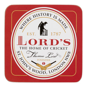 LORD'S OVAL PLAQUE COASTER