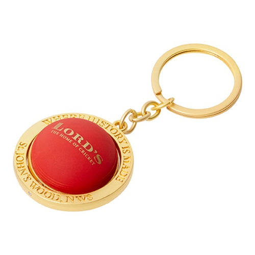 LORD'S PAVILION SPINNING BALL KEYRING