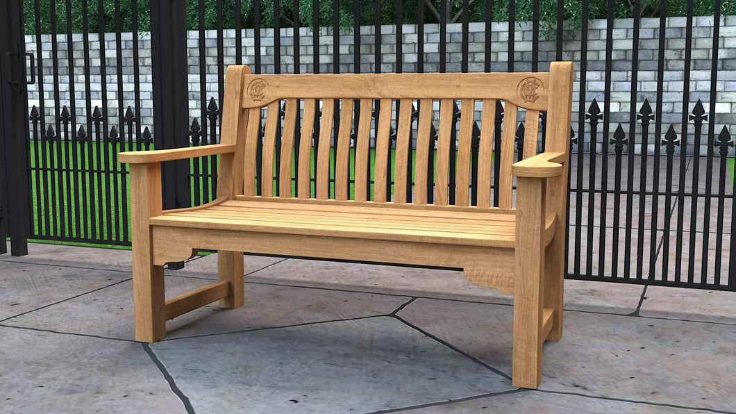 MCC Teak Commemorative Bench 2 Seater  - Chic Teak® | Luxury Teak Furniture