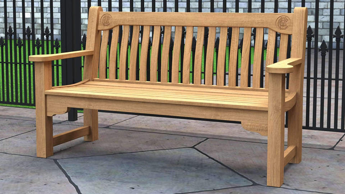 MCC Teak Commemorative Bench 3 Seater  - Chic Teak® | Luxury Teak Furniture