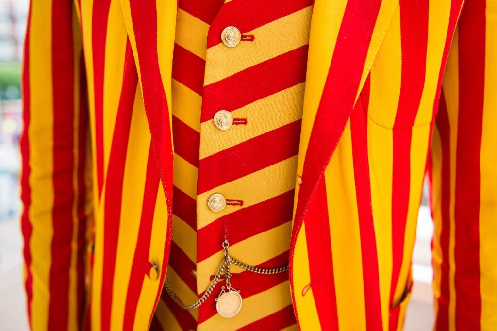 EGG & BACON STRIPE BLAZER CLOTH