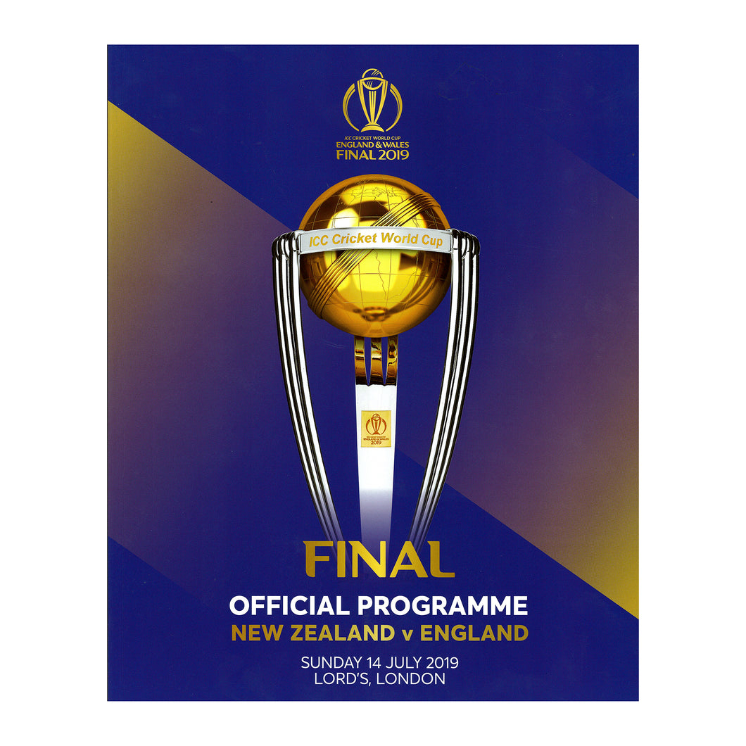 OFFICIAL PROGRAMME CRICKET WORLD CUP FINAL 2019