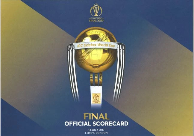 OFFICIAL SCORECARD WORLD CUP FINAL 2019