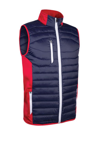 MEN'S PADDED STRETCH PANEL GILET - 'ANTON'