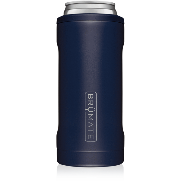 matte navy brumate slim can cooler