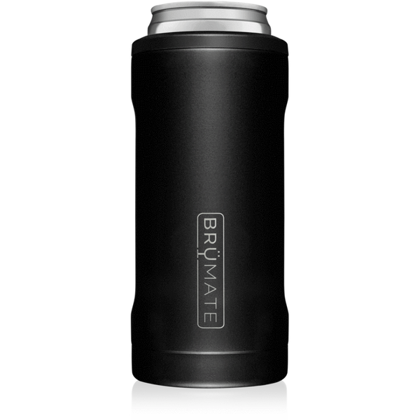 matte black brumate slim can cooler