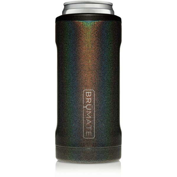 glitter charcoal brumate slim can cooler