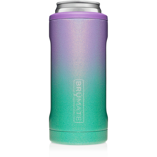 glitter mermaid brumate slim can cooler