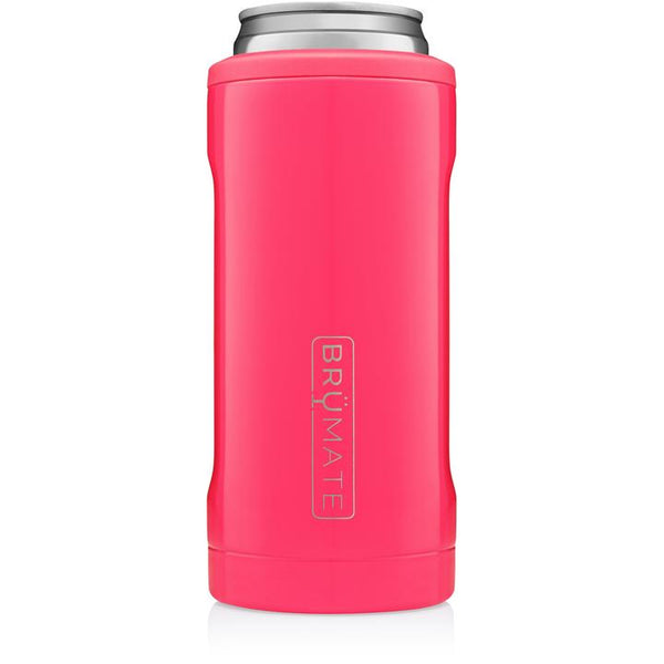 neon pink brumate slim can cooler