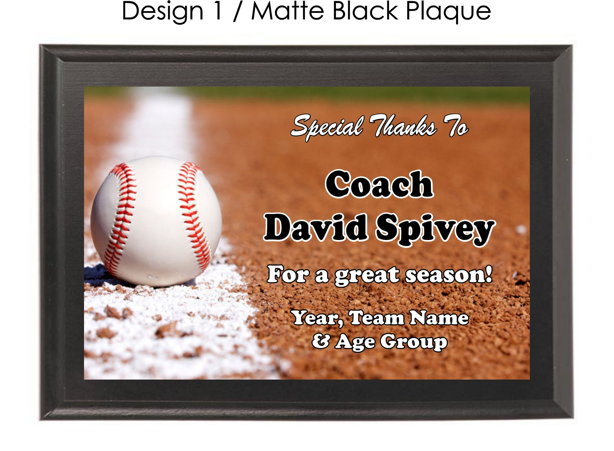 Baseball Coach's Plaque - Generic