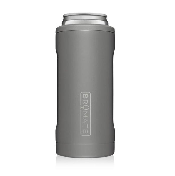 matte gray brumate slim can cooler