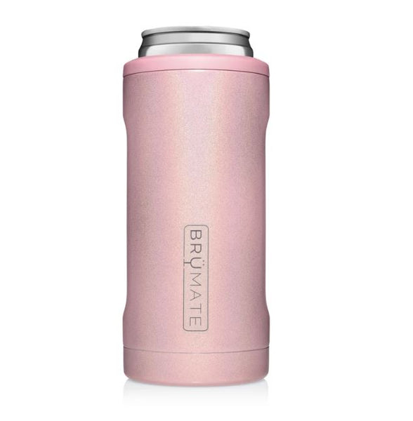 glitter blush brumate slim can cooler