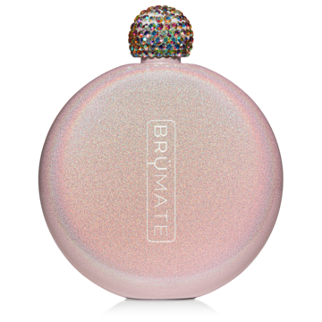 glitter blush brumate flask