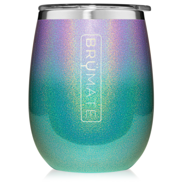 glitter mermaid brumate stemless wine tumbler