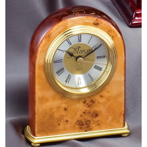 Dome shaped burl wood clock