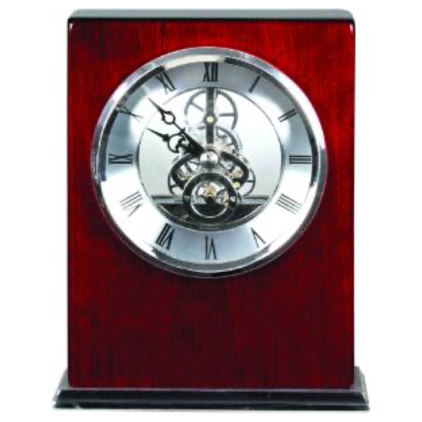 Clock - Rosewood Rectangle