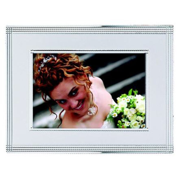 Picture Frame - Brushed Silver Custom Engraved