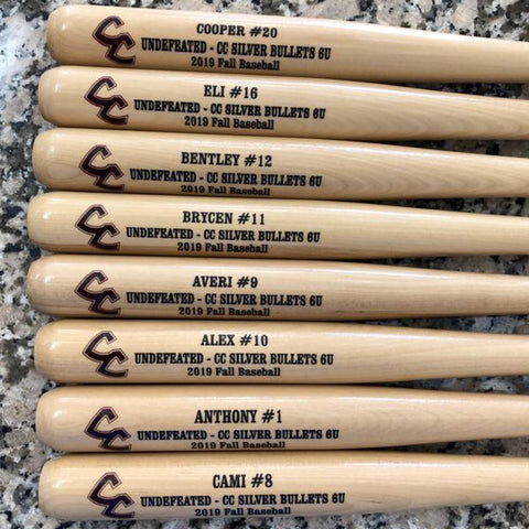 direct print baseball bat awards