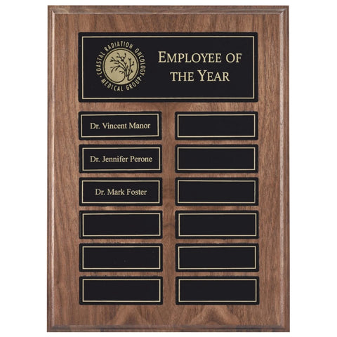 Perpetual Plaque - Solid Walnut w/ Black Magnetic Plates