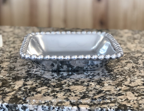 Tray - Medium Beaded Square Bowl Custom Engraved
