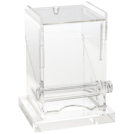 Engraved clear acrylic toothpick holder.