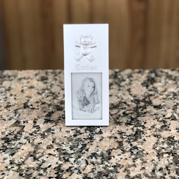 Silver personalized baby picture frame
