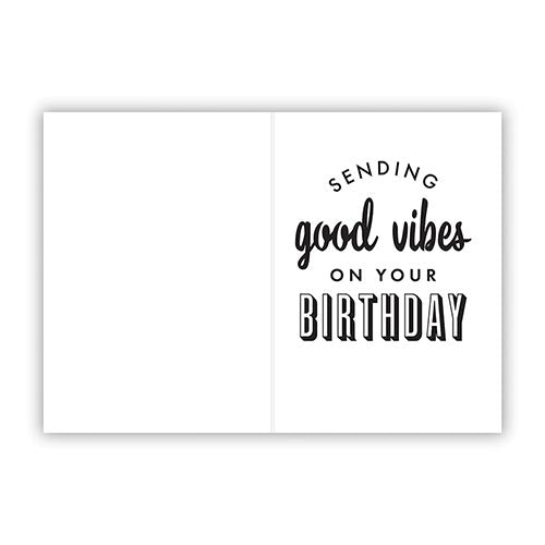 good vibes birthday greeting card