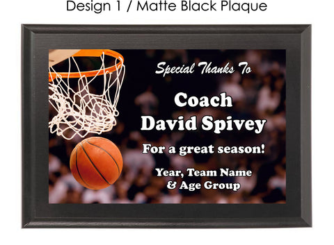 Basketball Coach's Plaque - Generic